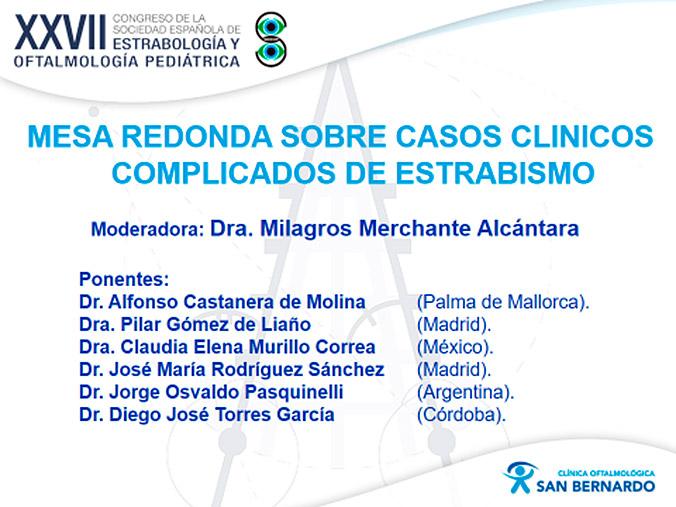 La Dra. Merchante en el XXVII Congreso de la Sociedad Española de Estrabología y Oftalmología Pediátrica